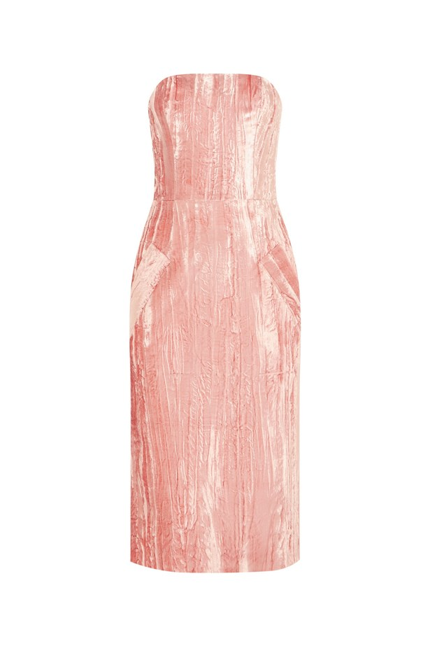 "Topshop Unique Mayall crushed velvet dress, $401, <a href=""https://www.net-a-porter.com/au/en/product/649835/topshop_unique/mayall-crushed-velvet-dress"">Net-A-Porter</a>."