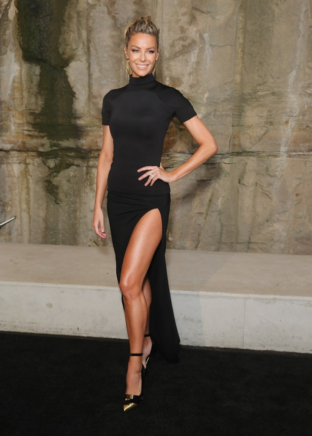 Jennifer Hawkins at the 2016 Myer Autumn fashion launch at Barangaroo.