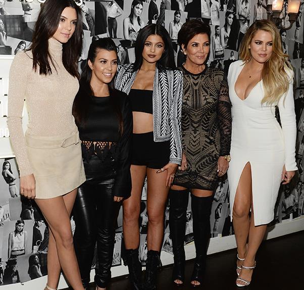 Kendall Jenner, Kylie Jenner, Kourtney Kardashian, Kris Jenner and Khloe Kardashian together.