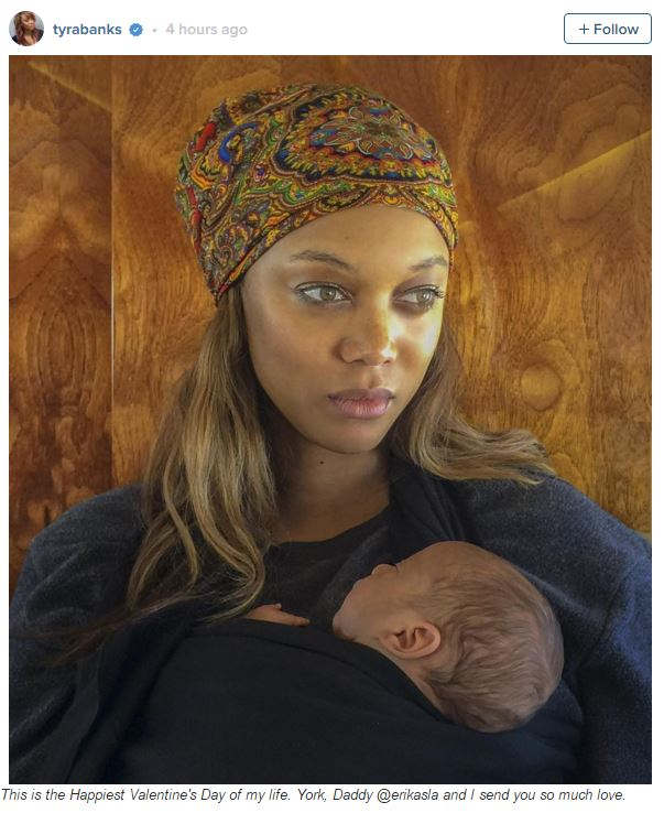 Tyra Banks Book: Tyra Banks Posts First Photo Of Baby York : Elle
