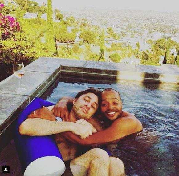 Zach Braff, of course, spent Valentine's Day with his one true love, Donald Faison.