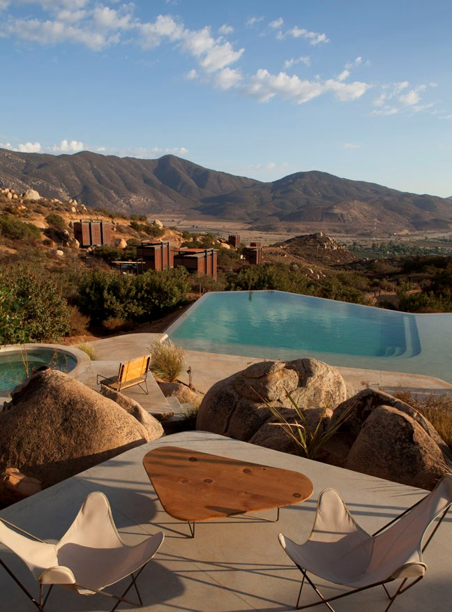 Endemico, Mexico: Twenty luxury cabins dotted throughout Mexico's northern wine region, where the epic views can be enjoyed from your private terrace, the pool or Jacuzzi.