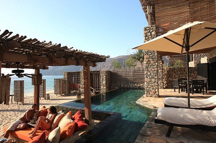 Six Senses Zighy Bay, Oman: The stark contrast of desert landscape and crystal blue water is hard to beat, and the famous Six Senses spa is beyond your wildest dreams. Give us all the facial treatments.