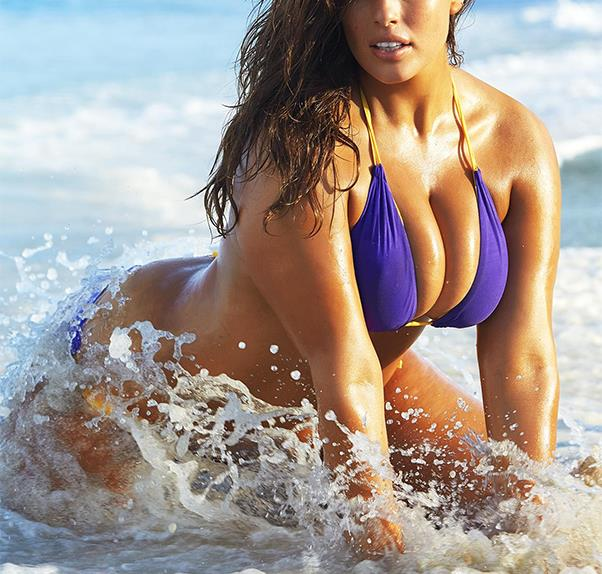Ashley Graham poses for Sports Illustrated Swimsuit Issue 2016.