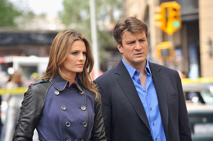 **Castle and Beckett, *Castle*** <br><br> *Castle* fans may be shocked to learn that Nathan Fillion and Stana Katic are not what you would call best buds. Apparently the overexposure to each other during film caught up with them.