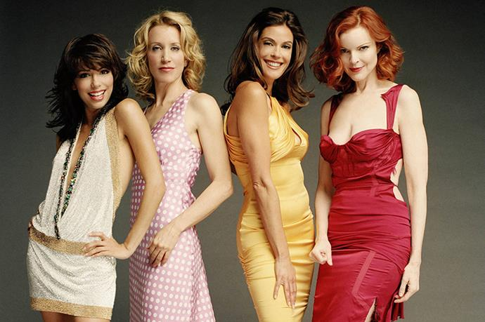 **Susan, Lynette, Bree and Gabrielle, *Desperate Housewives*** <br><br> *Desperate Housewives* fans will know that things weren't always pleasant between the cast and Teri Hatcher. At one point the cast refused to participate in photoshoots where Teri was in the centre.
