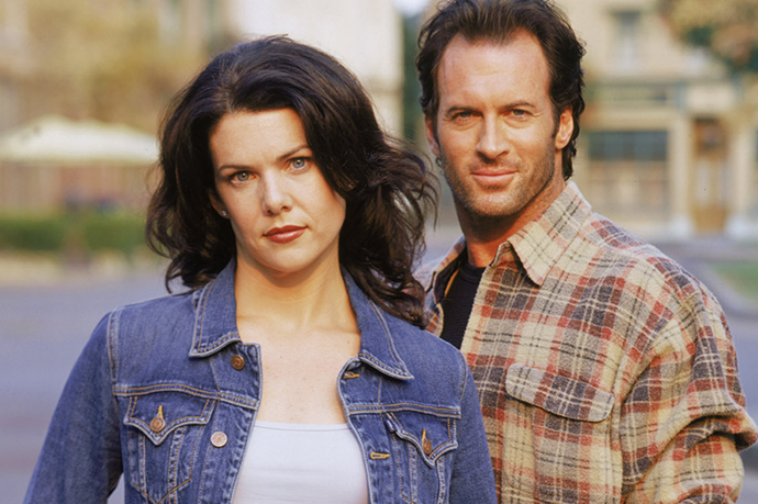 """**Lorelai and Luke, *Gilmore Girls*** <br><br> What!? According to TV Line, Lauren Graham answered with a firm """"No"""" when asked if she and Scott Patterson were friends in real life."""
