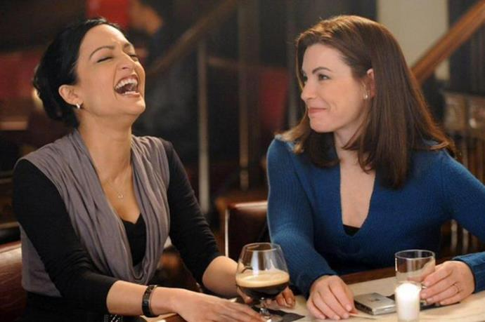 **Alicia and Kalinda, *The Good Wife*** <br><br> The feud between *The Good Wife's* Julianna Margulies and Archie Panjabi has escalated to a point that they refuse to film scenes together now.