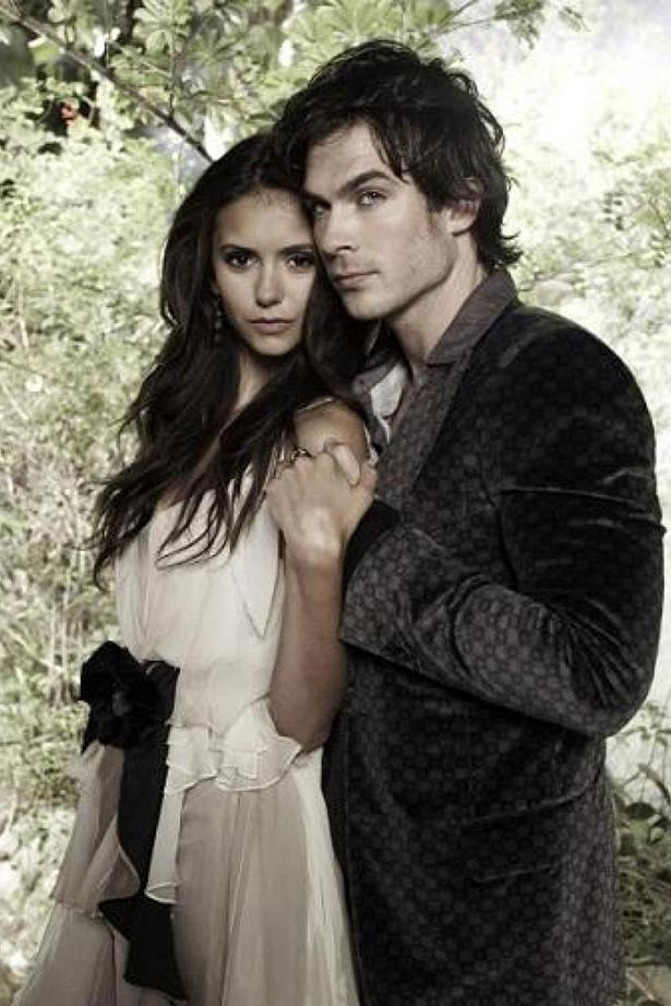 **Damon and Elena, *The Vampire Diaries*** <br><br> The split between Nina Dobrev and Ian Somerhalder was allegedly the reason why Nina left *The Vampire Diaries*.