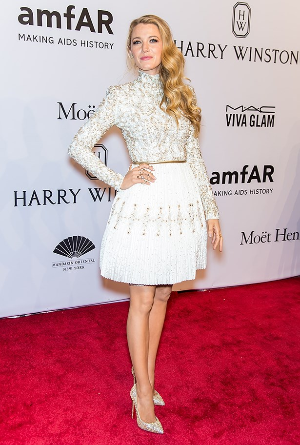 Blake attended the amfAR gala on the arm of her husband looking very sparkly and 100% gorgeous.