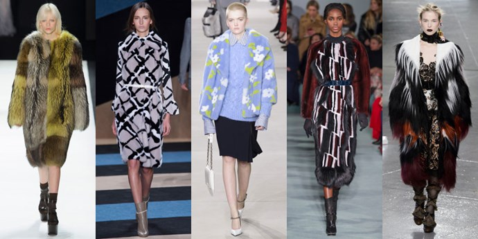<strong>STATEMENT FURS</strong> <br><br> This season's furs (both faux and real) are not for the meek. Be prepared for all eyes to be on you when you walk in to a room wearing one of the numbers. <br><br> <em>As seen at Vera Wang, Derek Lam, Michael Kors Collection, Oscar de la Renta and Rodarte</em>