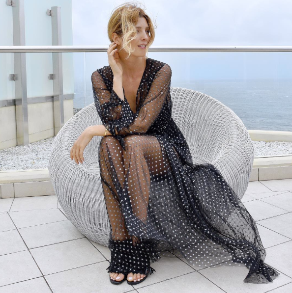 """Bec Cooper of Bec & Bridge<br><br> What's the outfit you can't stop wearing from your new collection? Why do you love it? <br> We love the Angel Trail Maxi Dress from our winter 2016 collection  because it is the perfect statement dress for the Bec & Bridge girl.<br><br> 2. Where do you wear it and how do you style it?<br> I style it back with a leather jacket and a killer boot for a nighttime edgy look or you could pair it with open toe sandals and loose curls like Tanja Gacic [pictured] rocking it out to lunch. <br><br> Angel Trail Maxi Dress, $350, <a href=""""http://www.becandbridge.com.au"""">www.becandbridge.com.au</a>"""