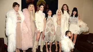 The Kardashians and Jenners at the Yeezy Season 3 show.
