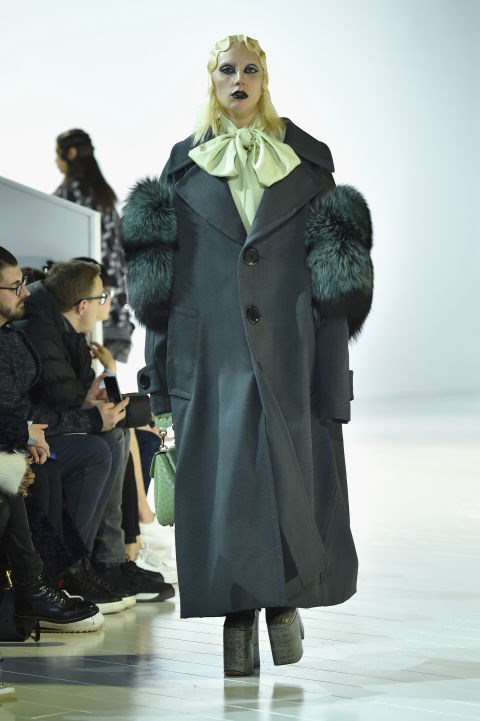 Lady Gaga walks the Marc Jacobs FW16 fashion runway show.