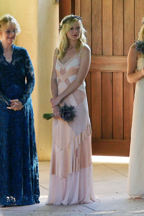 Kirsten Dunst wore this floaty slip at the wedding of her stylist.
