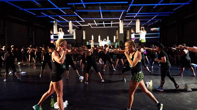 Nike NTC Tour boxing class.