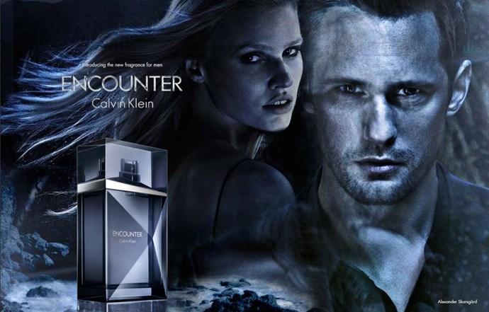 Alexander Skarsgård put his smoulder to the test by fronting CK's <em>Encounter</em> fragrance.