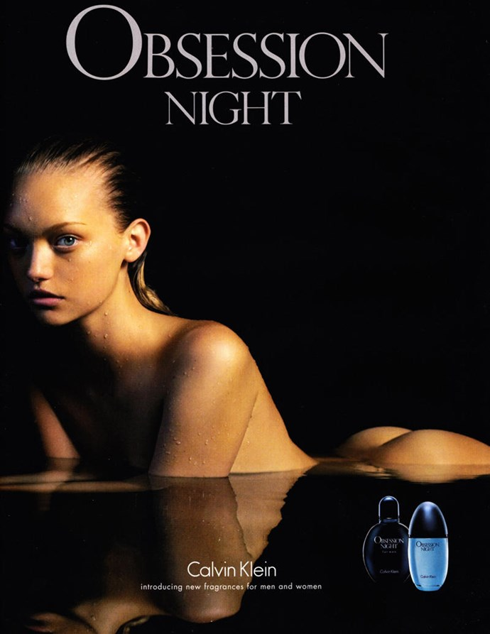 Gemma Ward's campaign for <em>Obsession Night</em> became iconic during the height of her modelling career.