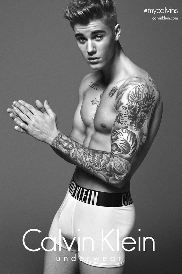 This image of Justin Bieber in his Calvins has been the cause of blushes around the world - and rightfully so. JB followed up this campaign with another, #mycalvins.