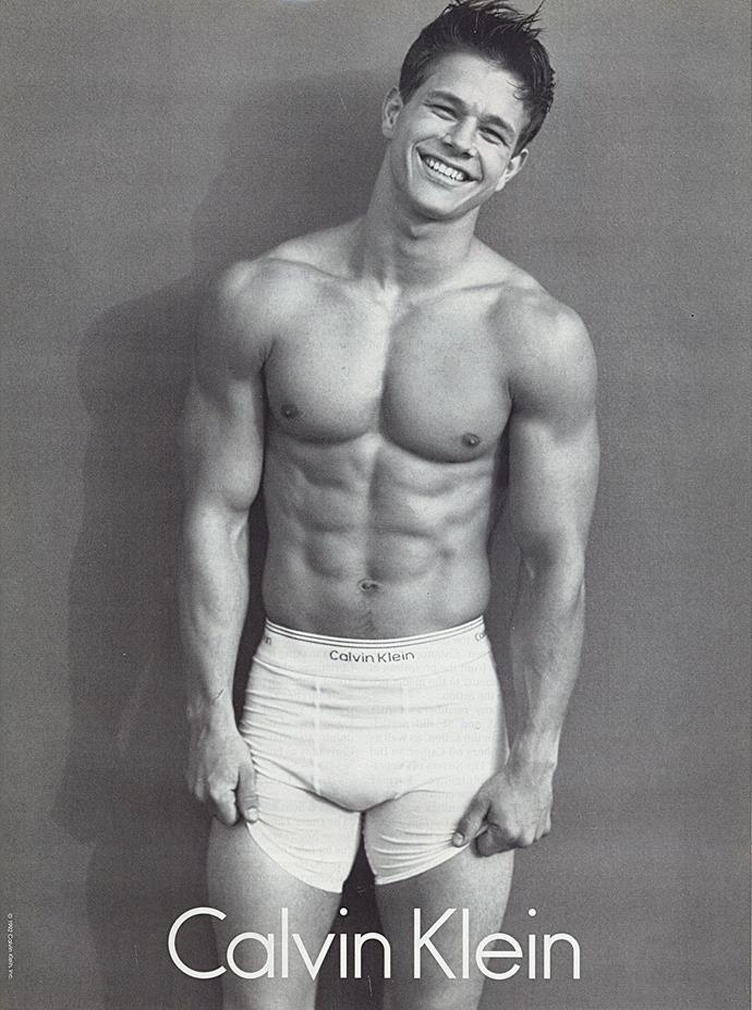 Who could forget this iconic image of actor, and then rapper, Mark Wahlberg?