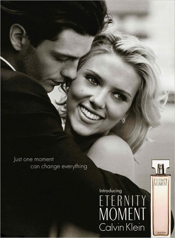 Scarlett Johansson was the face of <em>Eternity Moment</em> in 2004.