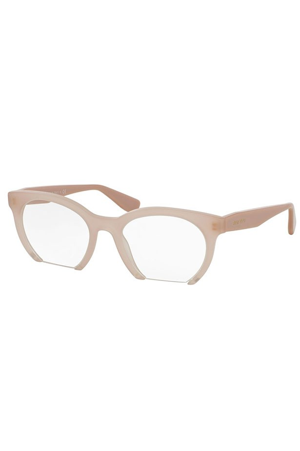 "Frames, $300, Miu Miu, <a href=""http://www.opsm.com.au/frames/miu-miu/round/mu-09nv/8053672380194"">opsm.com.au</a>"