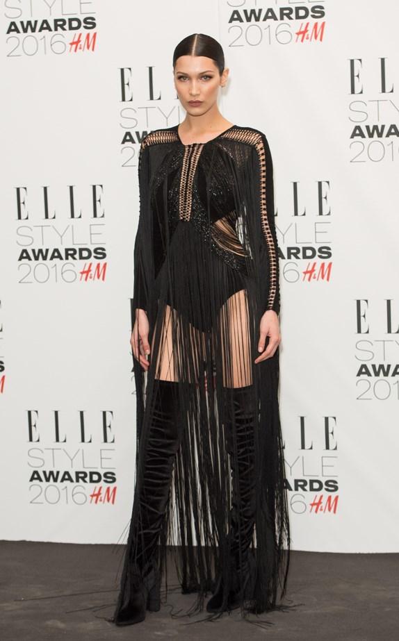 Bella Hadid at the 2016 ELLE UK Style Awards.