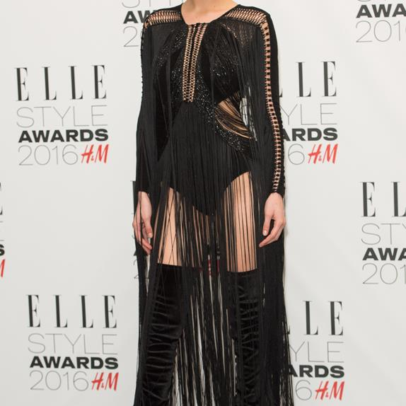Bella Hadid at the 2016 ELLE UK Style Awards.