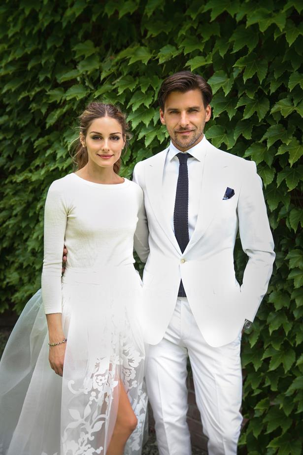 Only Olivia Palermo could wear a jumper to her wedding and look this incred.