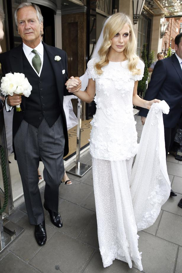 Poppy Delevingne wore custom Chanel for her London wedding to James Cook. Then she had a second wedding in Marrakesh. So dreamy.