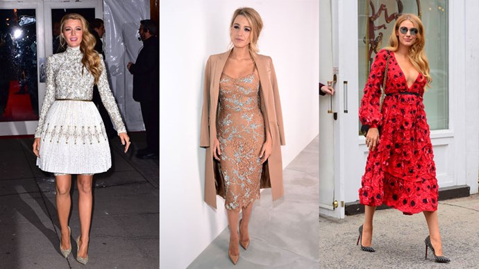 <strong>Who:</strong> Blake Lively <br> <strong>Signature Style:</strong> romantic