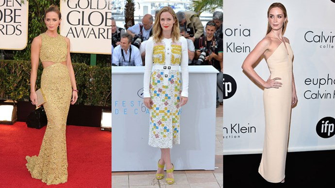 <strong>Who:</strong> Emily Blunt <br> <strong>Signature Style:</strong> a sleek silhouette