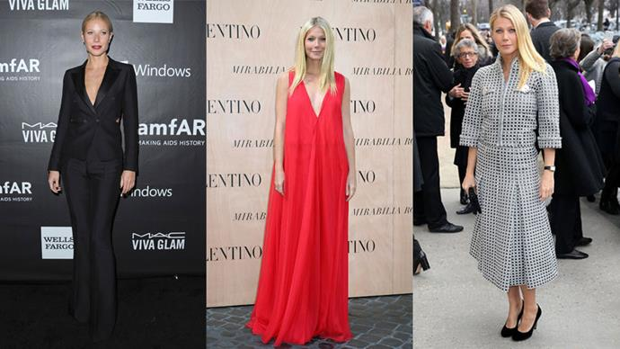 <strong>Who:</strong> Gwyneth Paltrow <br> <strong>Signature Style:</strong> elegant and refined