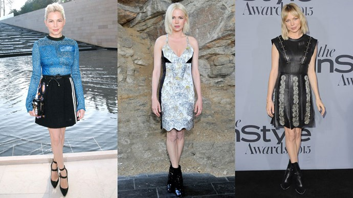 <strong>Who:</strong> Michelle Williams <br> <strong>Signature Style:</strong> edgy