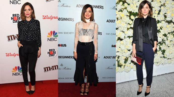 <strong>Who:</strong> Rose Byrne <br> <strong>Signature Style:</strong> killer combos