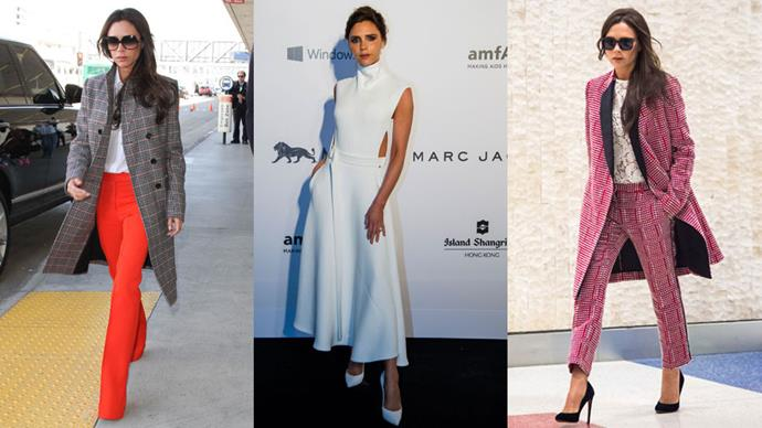<strong>Who:</strong> Victoria Beckham <br> <strong>Signature Style:</strong> corporate with a twist