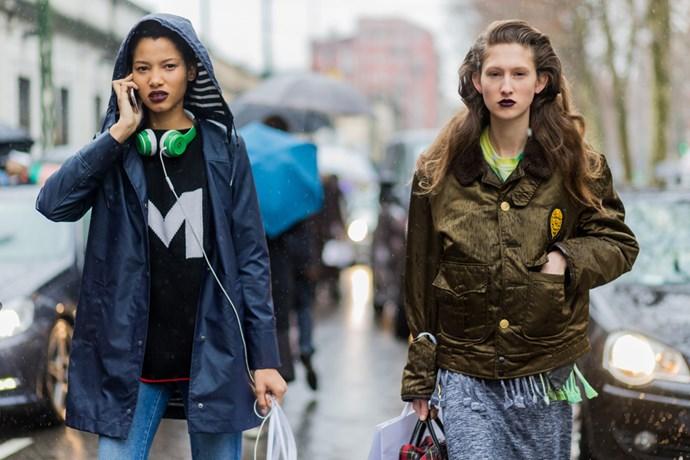 Models at Milan Fashion Week