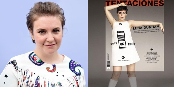 Lena Dunham on the cover of magazine Tentaciones.
