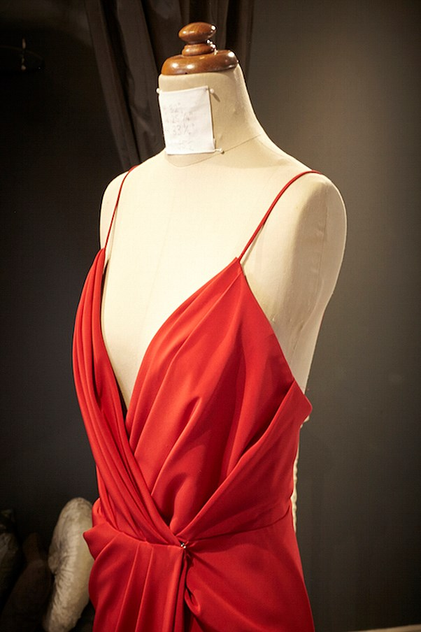 Steven Khalil red dress.