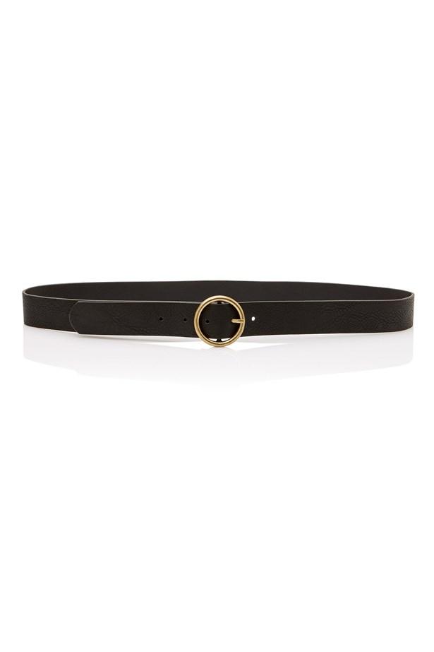"<a href=""http://www.sportsgirl.com.au/new-in/accessories/circle-buckle-jeans-belt-black"">Belt, $19.95, <strong>Sportsgirl</strong></a>"