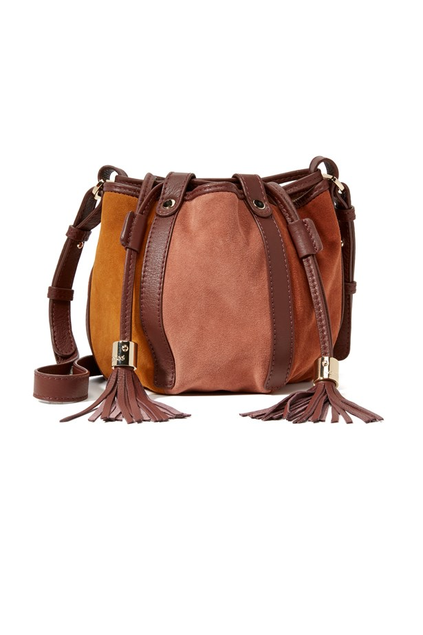 """<a href=""""https://www.shopbop.com/drawstring-crossbody-bag-see-by/vp/v=1/1589454978.htm"""">Bag, approx. $484, <strong>See By Chloé</strong> at shopbop.com</a>"""