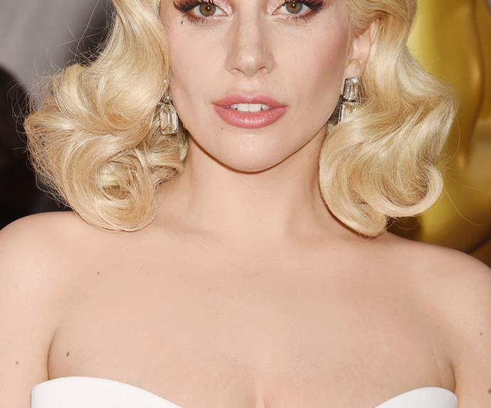 Lady Gaga on the 2016 Oscars red carpet