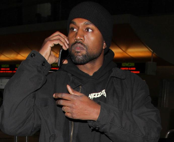 Kanye West at LAX in February