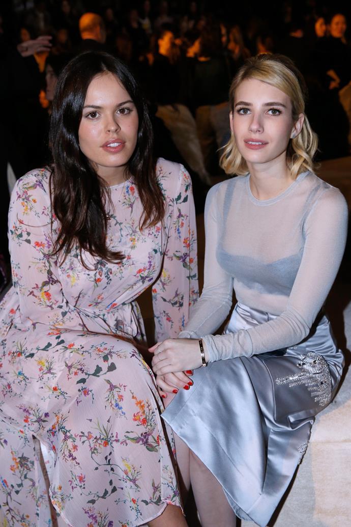 Atlanta de Cadenet and Emma Roberts at H&M