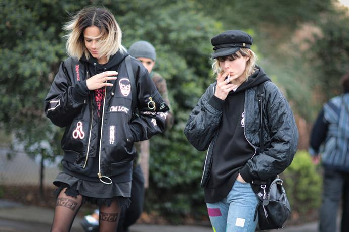 Binx Walton and Edie Campbell