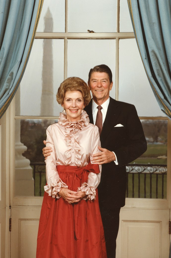 A 1984 portrait of the First Lady and President Reagan.