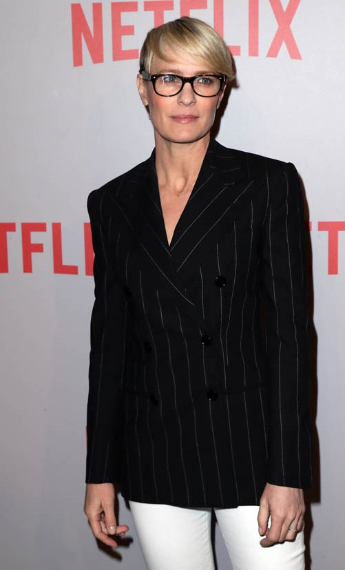 <strong>Robin Wright</strong> <br><br> Nothing says boss businesswoman like Robin Wright, especially as her character Claire Underwood in <em>House of Cards</em>.