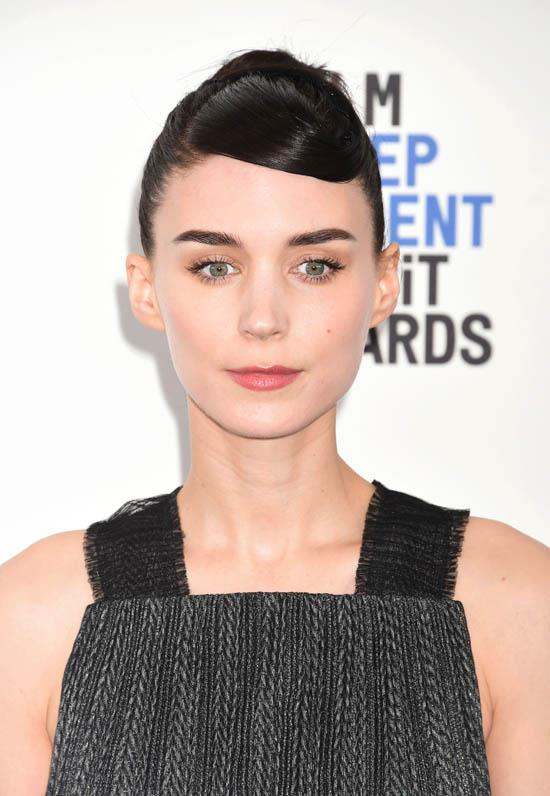 <strong>Rooney Mara </strong> <br><br> Rooney Mara is one of few to rock the short fringe look but she suits it like no other- it's quite Audrey Hepburn-esque.