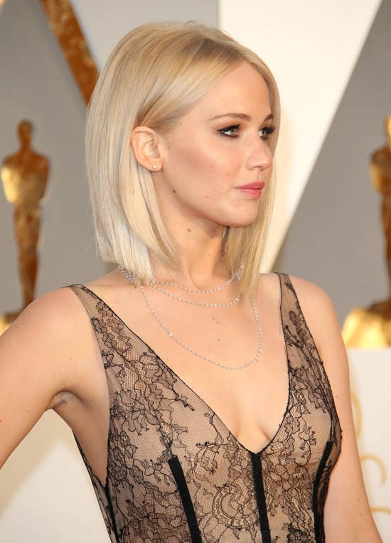<strong>Jennifer Lawrence</strong> <br><br> Jennifer Lawrence is beginning to receive quite the reputation for her shorter hair these days. She's been wearing it in many different styles. Here, she opts for an edgy bob with volume.