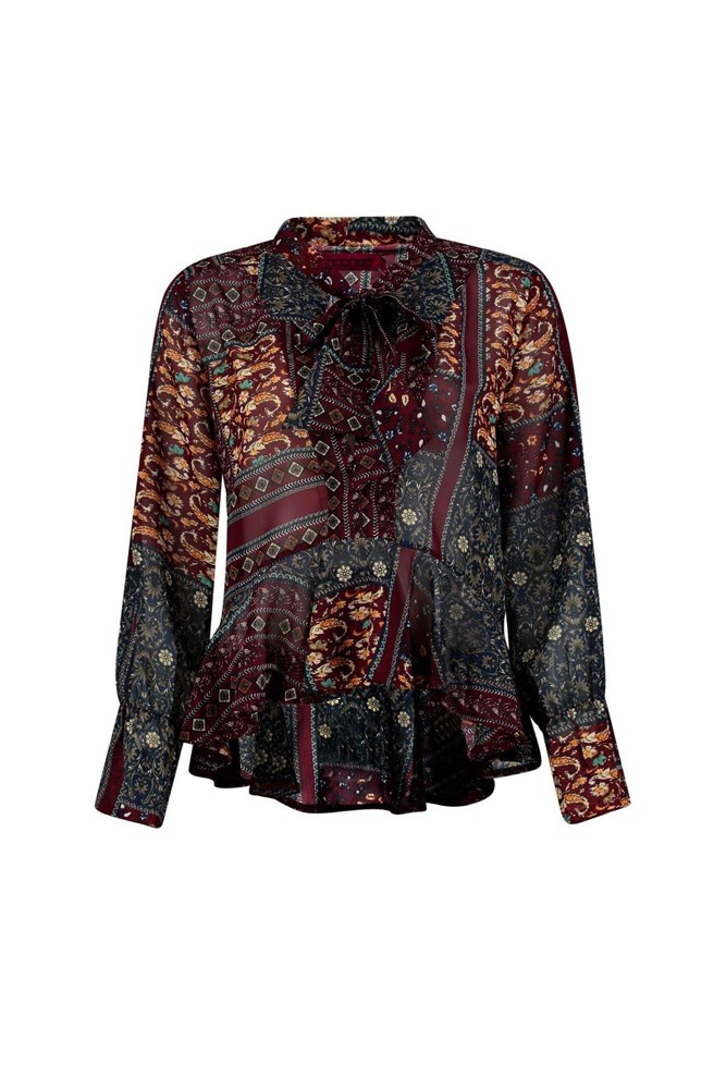 "<a href=""http://www.boohoo.com/new-to-clearance/christy-printed-tie-neck-blouse/invt/dzz97349"">Blouse, $32 (was $40), <strong>Boohoo.com</strong></a>"
